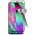 9D Full Cover Samsung Galaxy A40 Panzerglas - 9H, 0.3mm - Schwarz