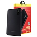 Awei Slim Powerbank P56K m/LED-Display - 30000mAh - Schwarz