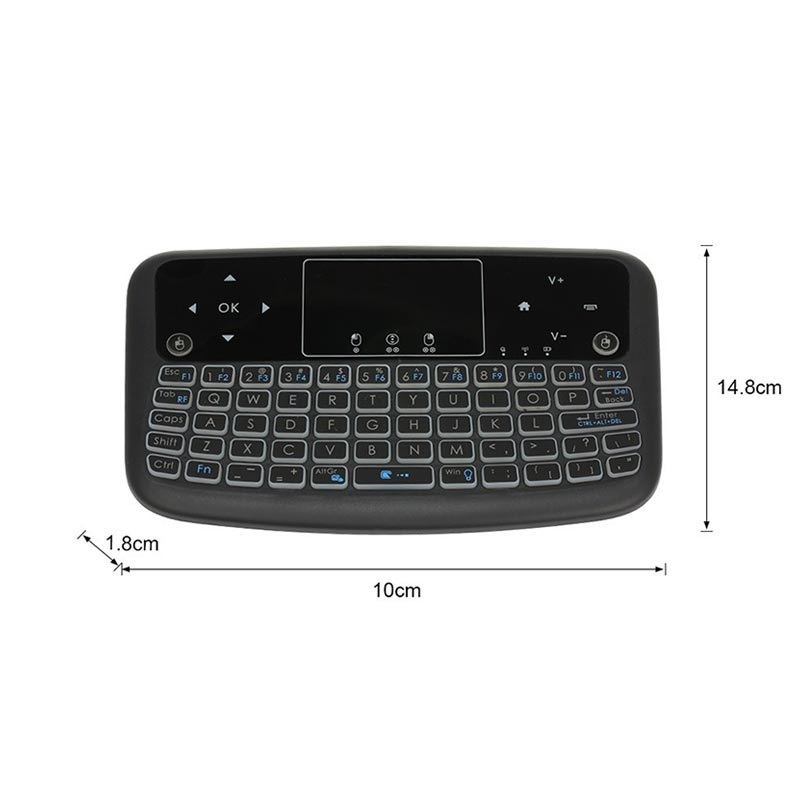 Backlit Wireless Keyboard / Touchpad Für Smart TV A36 - Schwarz