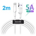 Baseus DZ-SMT Double-ring SuperCharge USB-C Kabel - 5A, 2m - Weiß