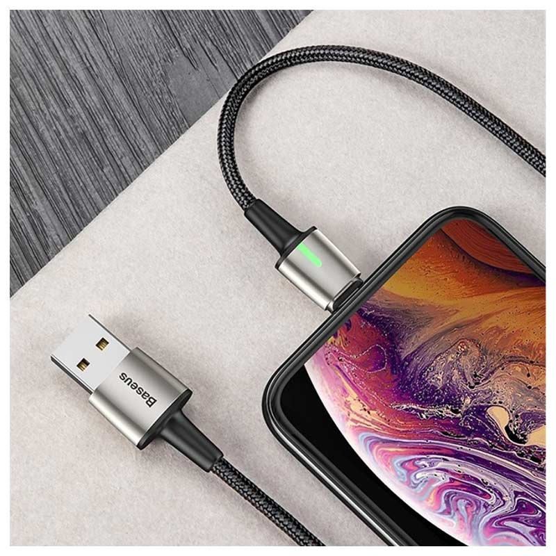 Baseus Magnetisches 3-in-1 Kabel - Lightning, USB-C, MicroUSB - 1m