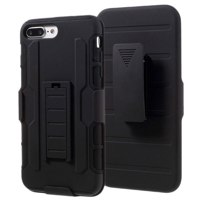 iphone 7 plus iphone 8 plus g rtelclip hybrid h lle schwarz. Black Bedroom Furniture Sets. Home Design Ideas