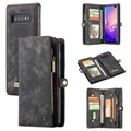Caseme 2-in-1 Multifunktions Samsung Galaxy S10 Wallet Hülle - Schwarz