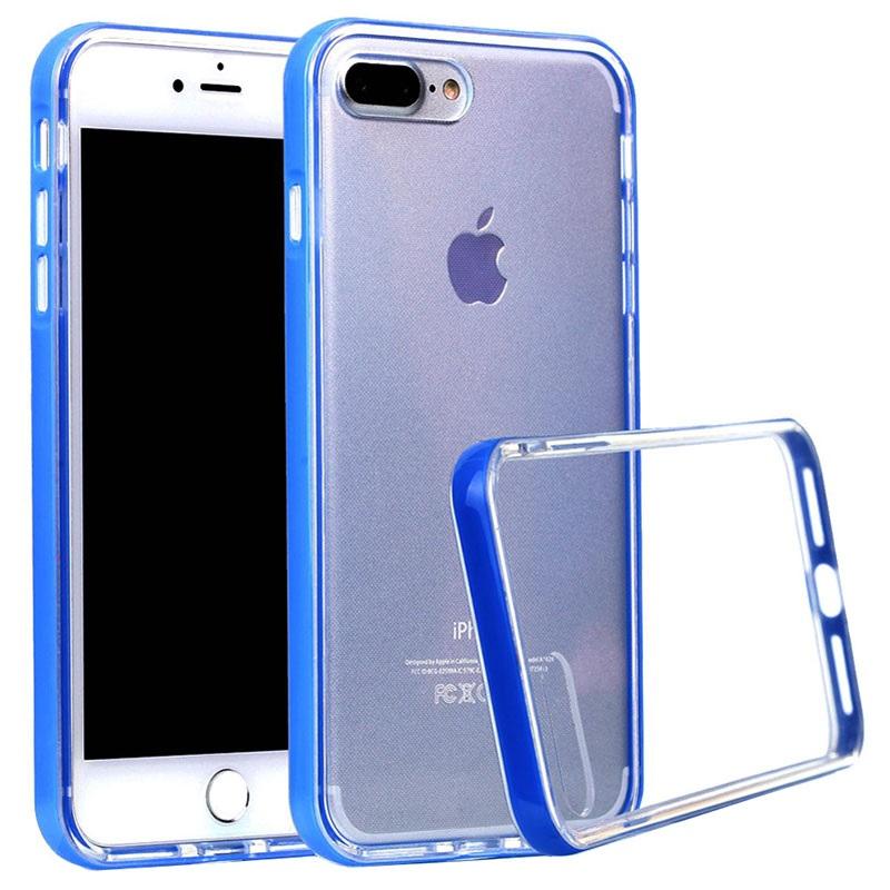 iphone 7 plus iphone 8 plus durchsichtig serie hybrid h lle blau. Black Bedroom Furniture Sets. Home Design Ideas
