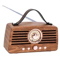 Creative Retro FM Radio Bluetooth Lautsprecher - Braun