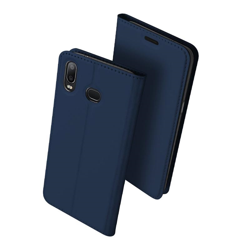 Dux Ducis Skin Pro Samsung Galaxy A6s Flip Case Dunkel Blau