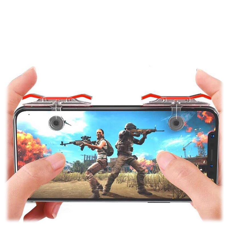 Universal Smartphone Quick Shooting Spiel Controller E9 - Rot