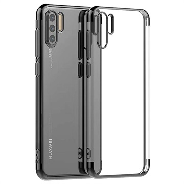 Electroplated Frame Serie Huawei P30 Pro TPU Hülle - Schwarz