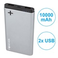 Forever PTB-04M Power+ Dual-USB Powerbank - 10000mAh - Grau