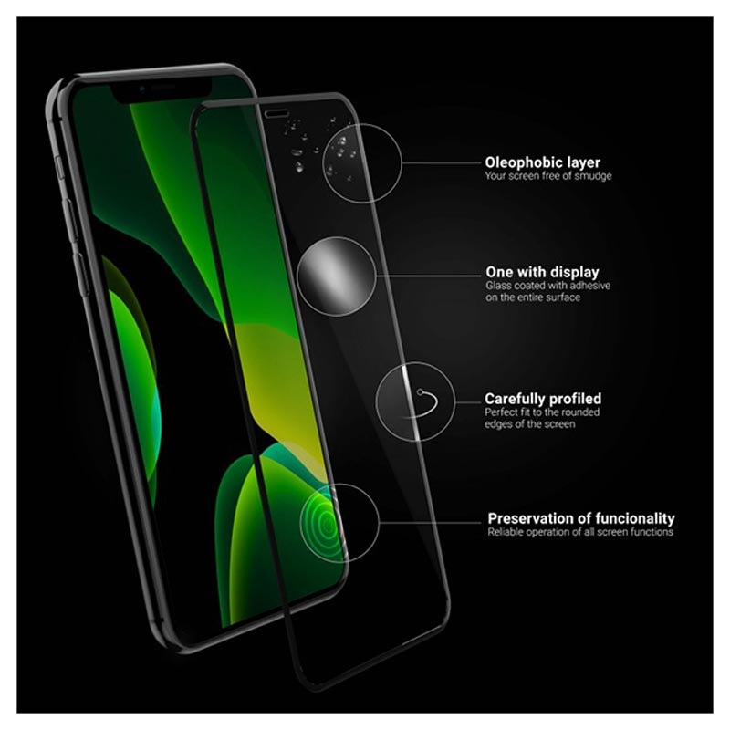 Green Cell Clarity iPhone X, iPhone XS Panzerglas - 9H - Schwarz