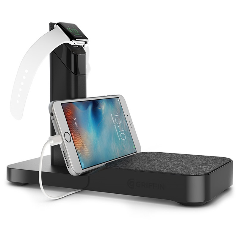 Griffin WatchStand Ladestation - Apple Watch, iPhone, iPad - Schwarz