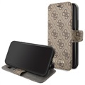 Guess Charms Collection 4G iPhone 11 Bookcase - Braun