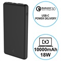 Ksix 10000mAh Quick Charge 3.0&USB-C PD Powerbank - 18W