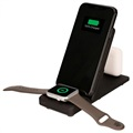 Ksix 3-in-1 Dockingstation - iPhone, AirPods, Apple Watch - Schwarz