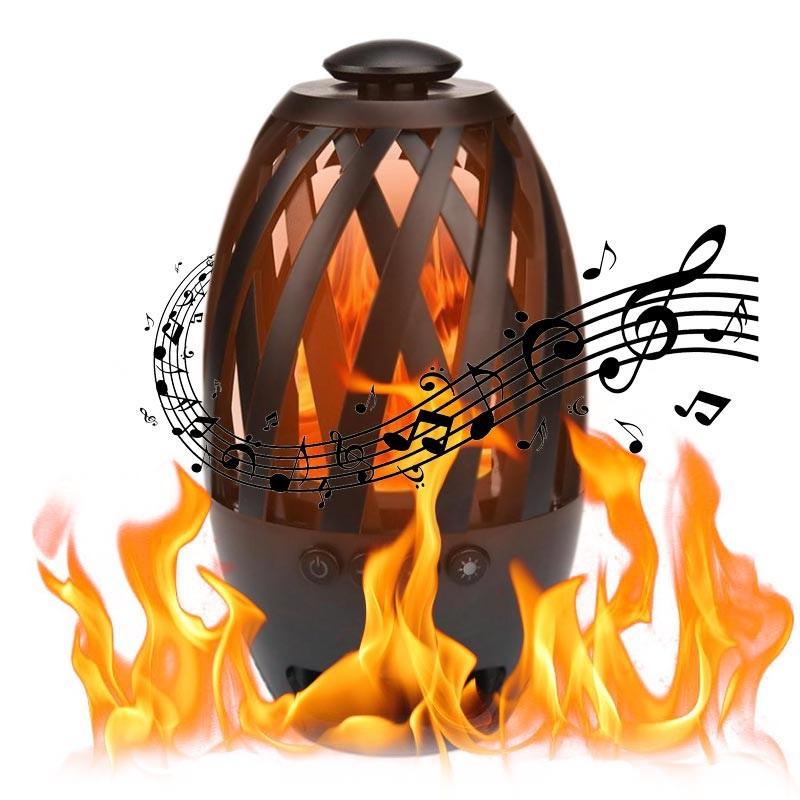 Schwarz Led Lampe Flamme 596 Mit Bts Bluetooth Lautsprecher 8OPnwk0