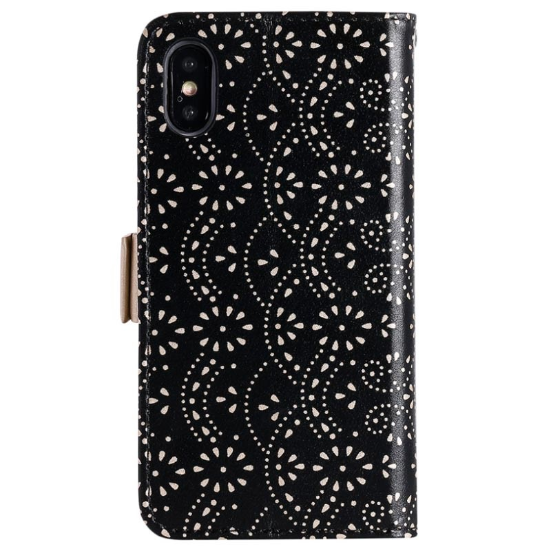Lace Pattern iPhone X / iPhone XS Wallet Hülle