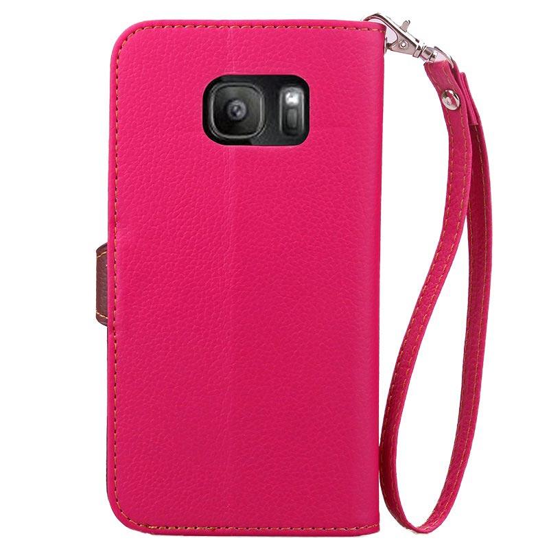 0e8f1a44daa54 Samsung Galaxy S7 Edge Leaf Geldbörse Tasche