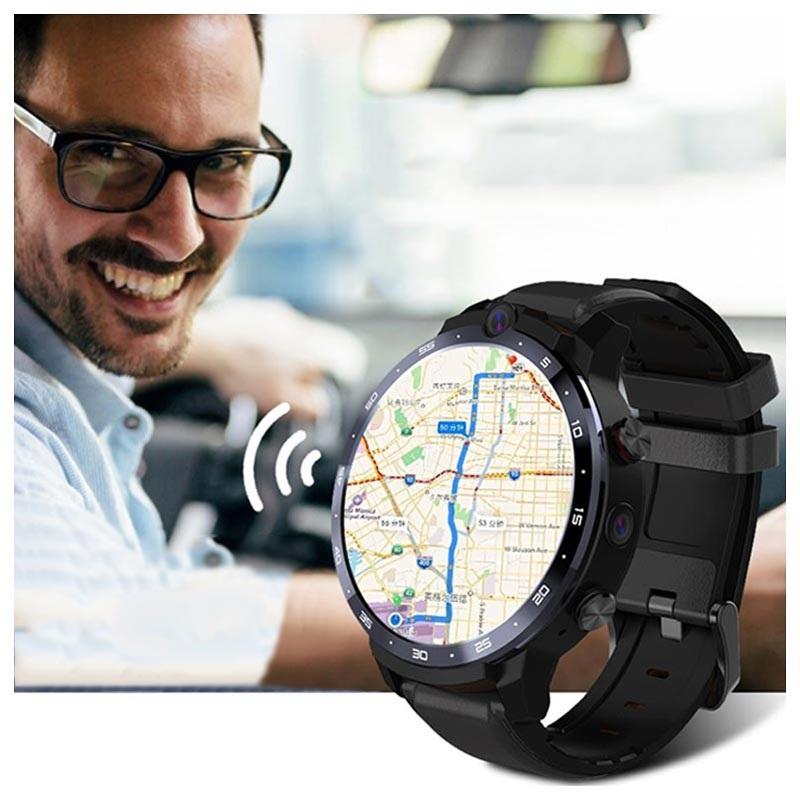 Lemfo Lem12 Android Smartwatch Mit Face Id Lte Schwarz