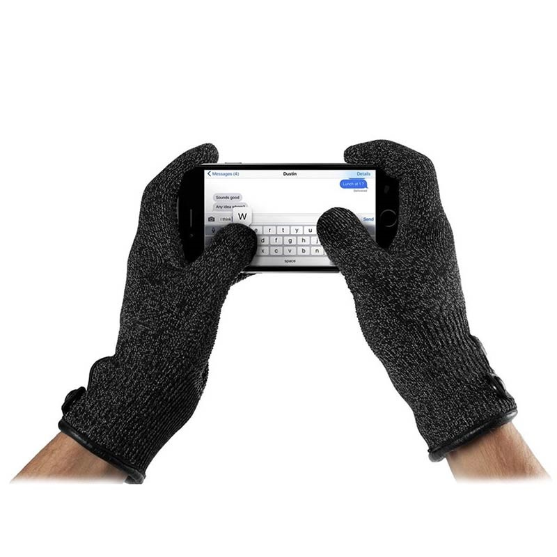 Mujjo Knitted Double-Layered Touchscreen Handschuhe - M