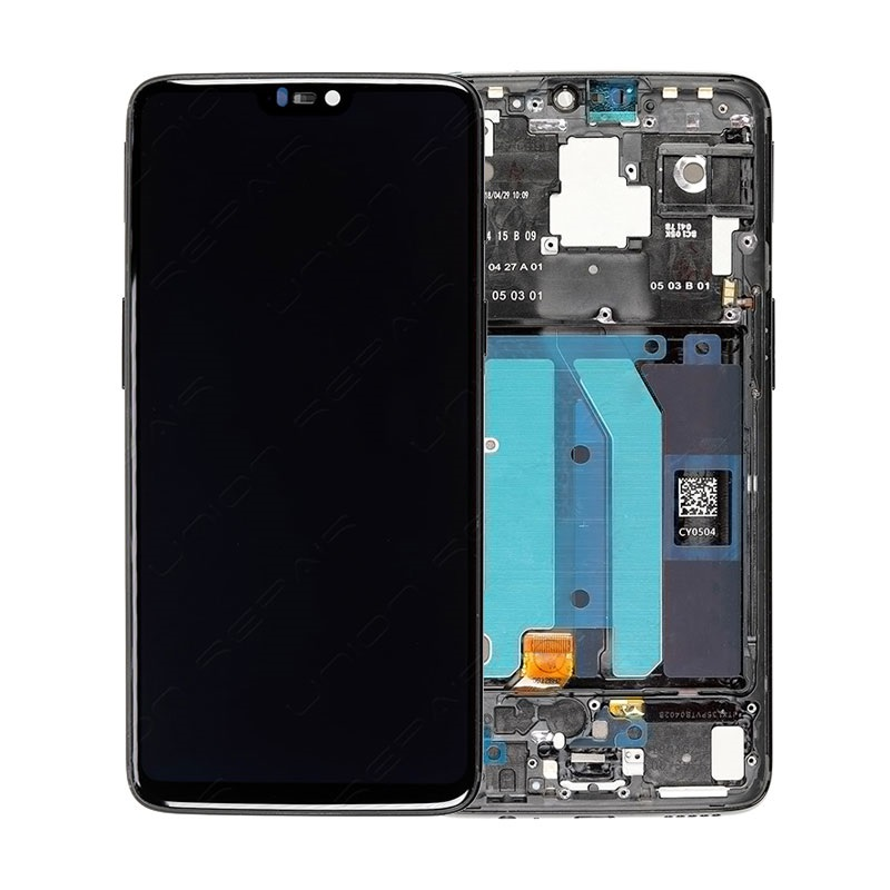 OnePlus 6 Oberschale & LCD Display