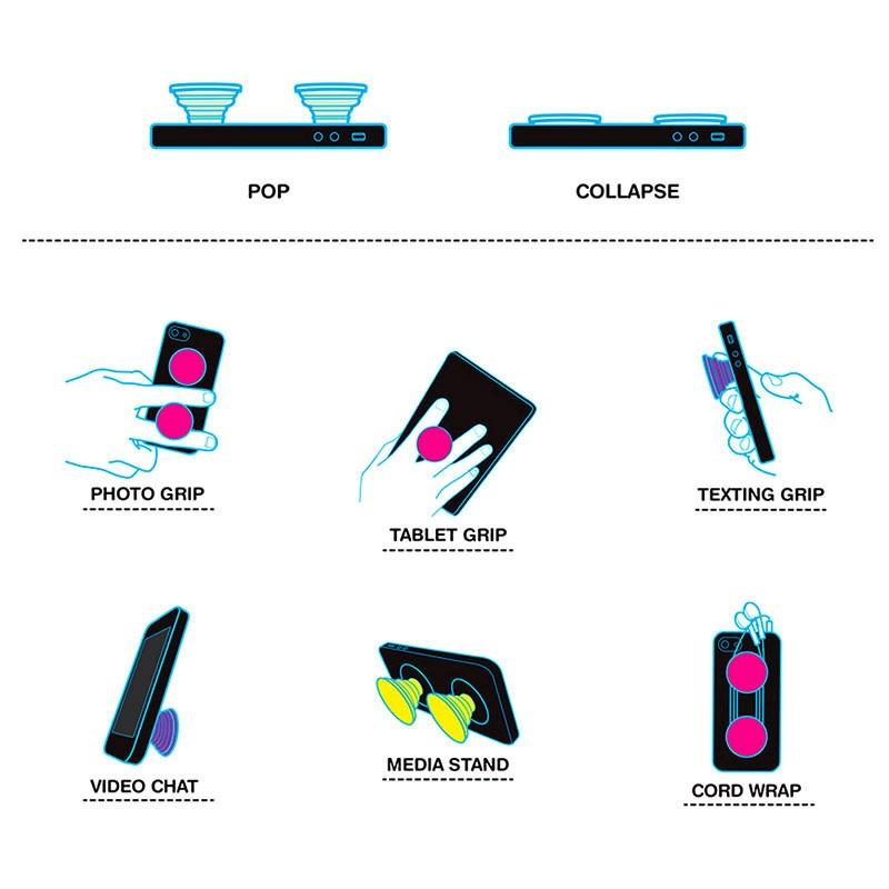 PopSockets Universal Ausziehbarer Ständer & Griff