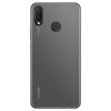 Puro 0.3 Nude Huawei P Smart+ TPU Hülle - Durchsichtig