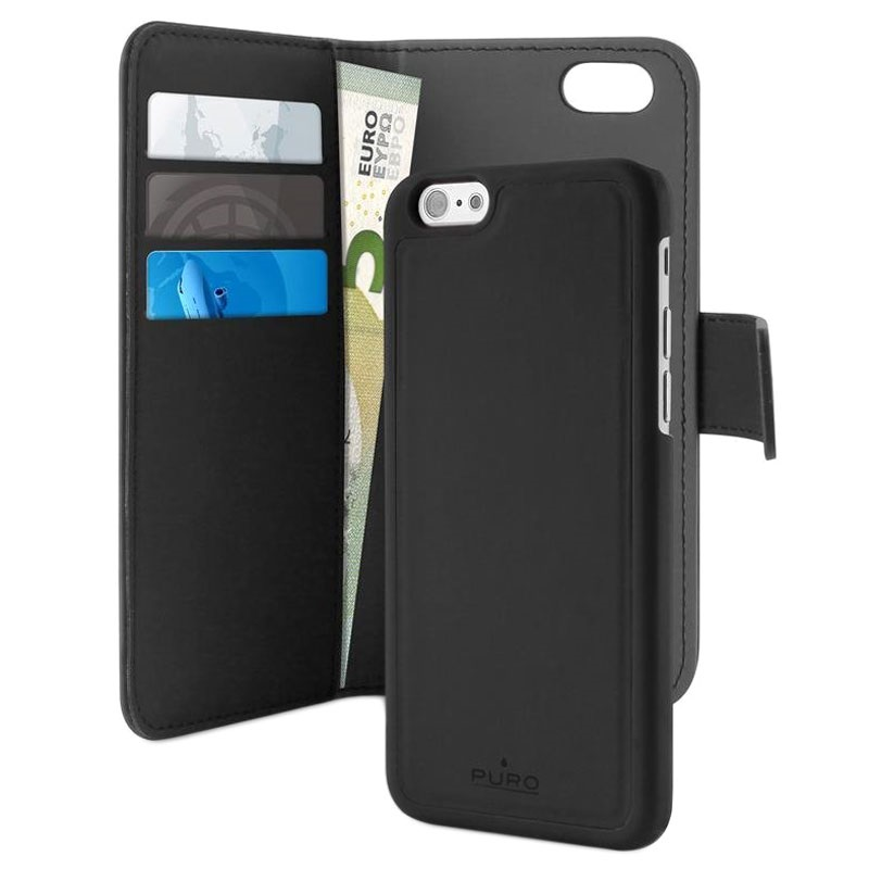 iphone 7 iphone 8 tasche von puro detachable mit geldb rse. Black Bedroom Furniture Sets. Home Design Ideas