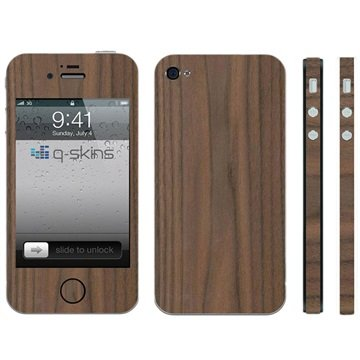 iPhone 4 / 4S Q-Skins Walnussholz Skin