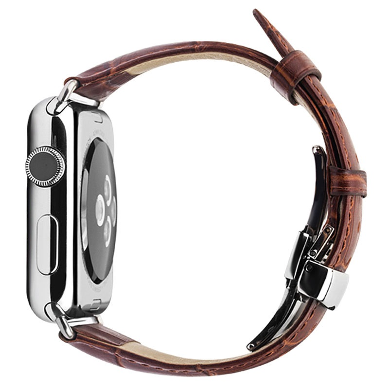 Apple Watch Series SE/6/5/4/3/2/1 Qialino Leder Armband - 42mm, 44mm