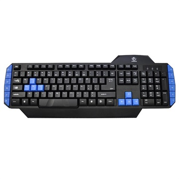 Rebeltec Warrior Gaming Tastatur mit 12 Multimedia Tasten - Schwarz / Blau