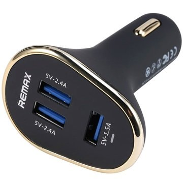 Remax Smart Triple USB-Port-Autoladegerät - 6.3A