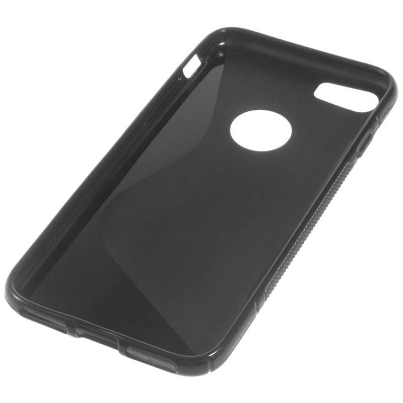 iphone 7 iphone 8 s curve tpu h lle schwarz. Black Bedroom Furniture Sets. Home Design Ideas