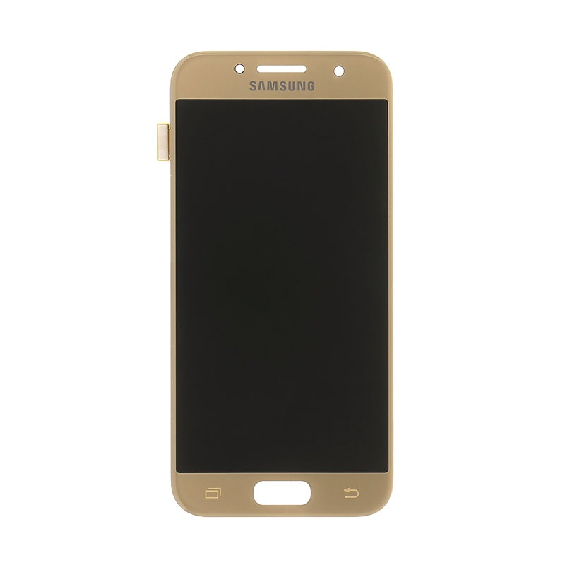 samsung galaxy a3 2017 lcd display gold. Black Bedroom Furniture Sets. Home Design Ideas