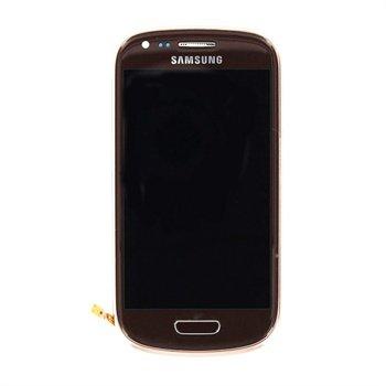 samsung galaxy s3 mini i8190 oberschale lcd display braun. Black Bedroom Furniture Sets. Home Design Ideas