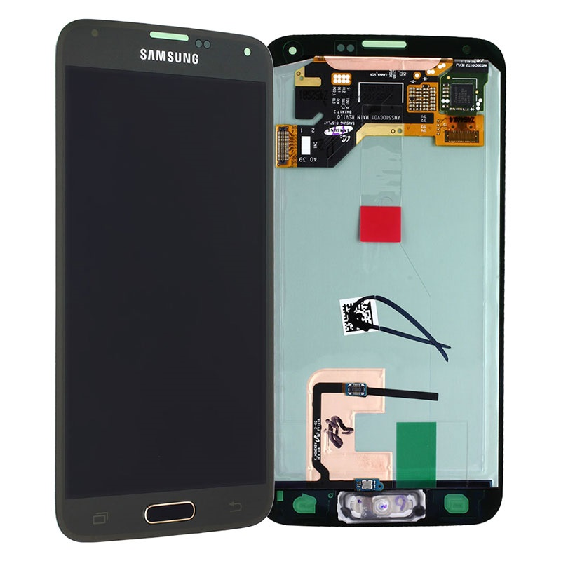 samsung galaxy s5 lcd display gold. Black Bedroom Furniture Sets. Home Design Ideas