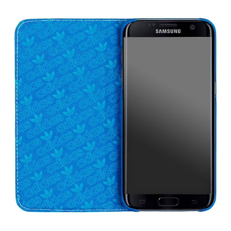 samsung galaxy s7 edge adidas basics folio tasche blau wei. Black Bedroom Furniture Sets. Home Design Ideas
