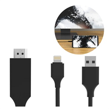 SiGN HDMI / Lightning Kabel für iPhone/iPad - 2m - Schwarz