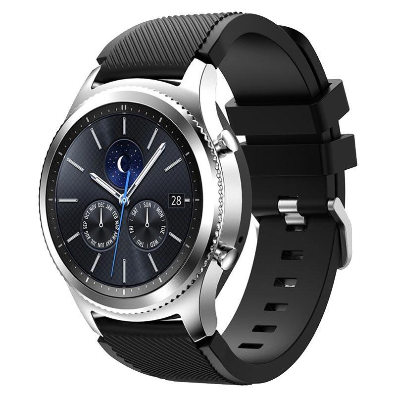 samsung gear s3 silicone sport armband schwarz
