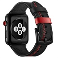 Apple Watch Series 5/4/3/2/1 Stitched Lederarmband - 42mm, 44mm