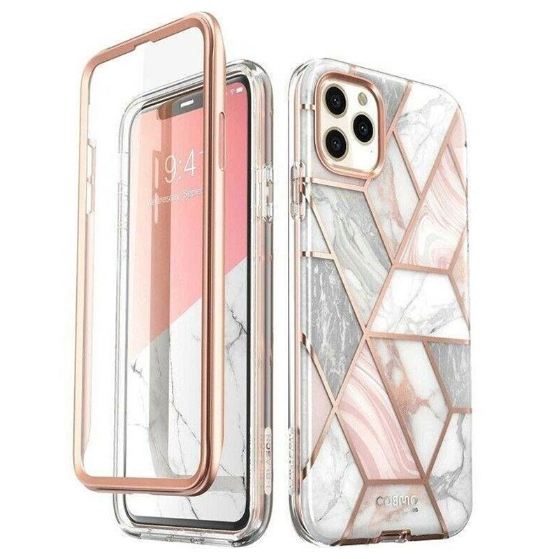 Supcase Cosmo iPhone 11 Pro Max Hybrid Hülle - Rosa Marmor