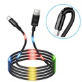 Usams US-SJ287 USB-C LED Ladekabel - 2A - Schwarz