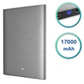 V7 Ultra Slim Dual USB Powerbank - 17000mAh - Grau