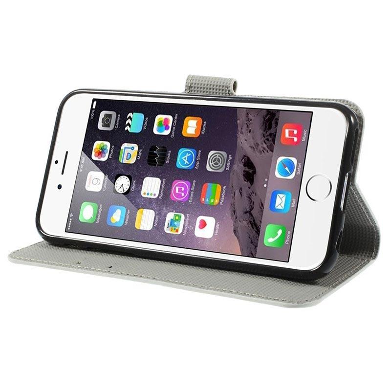 iphone 6 6s handy h lle mit geldb rse gr ne eule. Black Bedroom Furniture Sets. Home Design Ideas