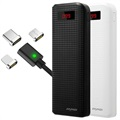 iMyMax Carbon 20000mAh Powerbank Set mit 3-in-1 Magnetkabel