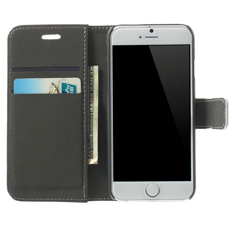 iphone 6 6s handy h lle mit geldb rse wei. Black Bedroom Furniture Sets. Home Design Ideas