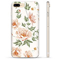 iPhone 7 Plus / iPhone 8 Plus TPU Hülle - Blumen