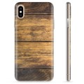 iPhone X / iPhone XS TPU Hülle - Holz