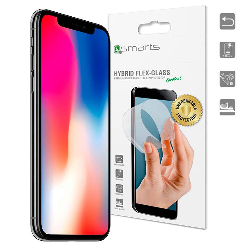 iPhone X/XS/11 Pro 4smarts Hybrid Flex-Glass Panzerglas