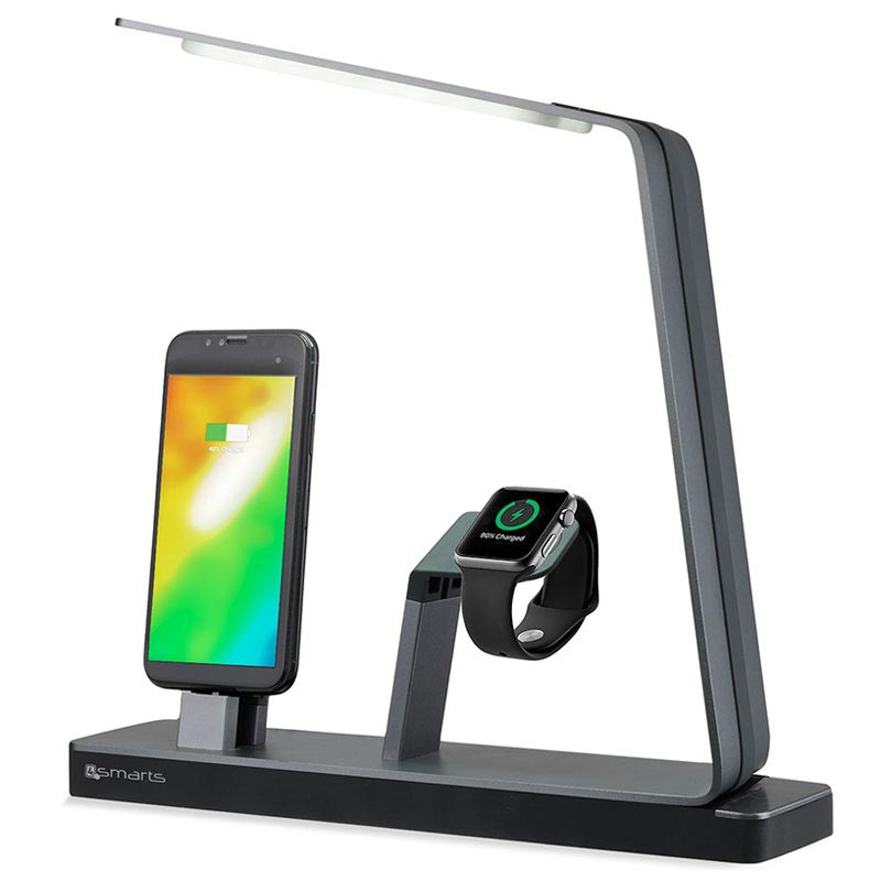4smarts LoomiDock Dockingstation & LED-Lampe - Apple Watch, iPhone