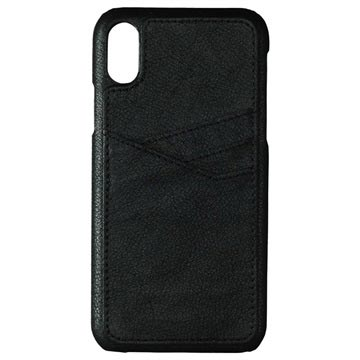 iPhone X / iPhone XS Essentials Triple Card Leder Cover